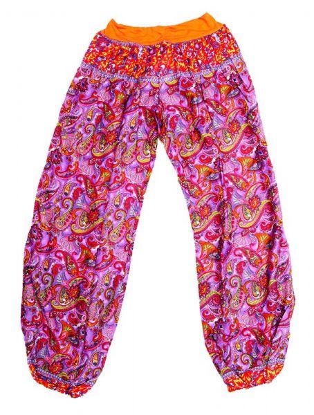 Pantalon afgano rayón estampado - Naranja Comprar al mayor o detalle