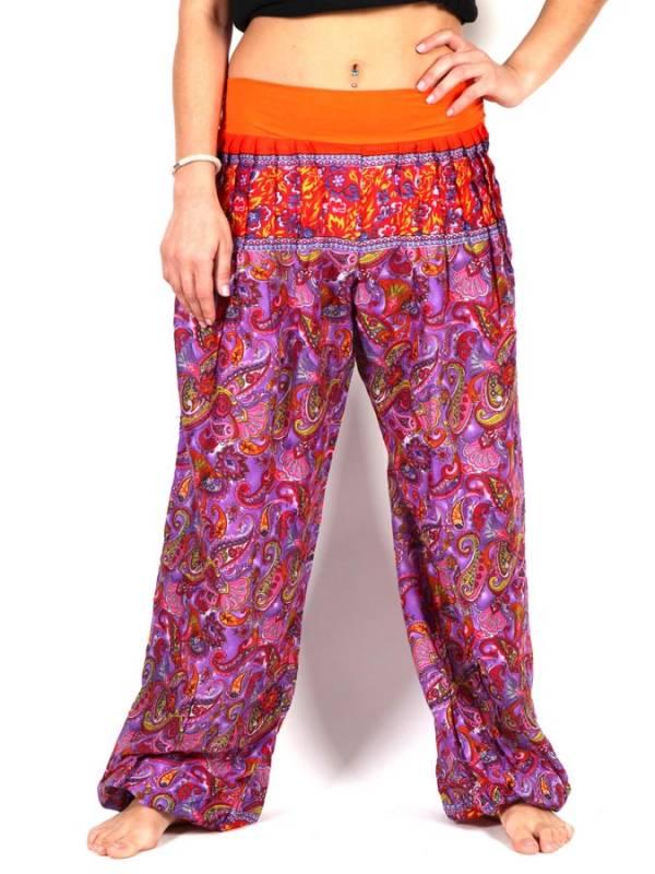 Pantalones Hippies Harem - Pantalon afgano rayón estampado [PAPJ01] para comprar al por mayor o detalle  en la categoría de Ropa Hippie Alternativa para Mujer.