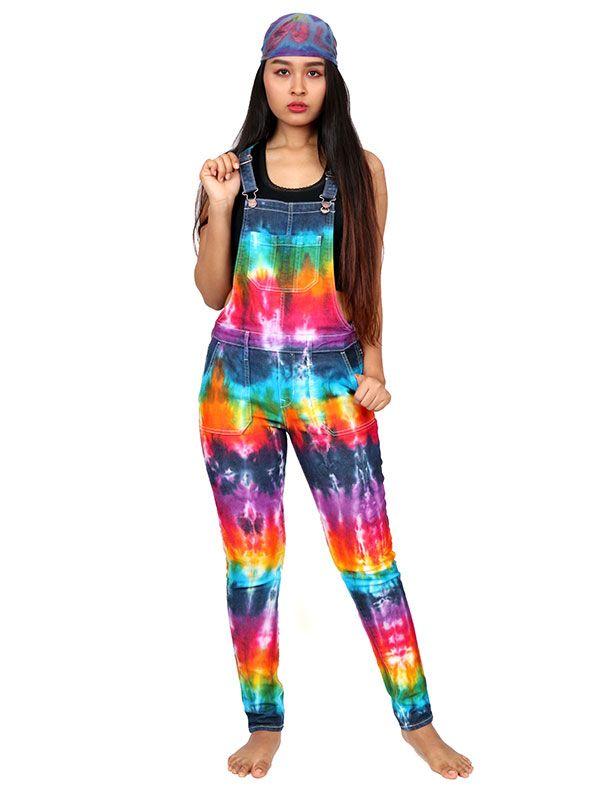 Pantalones Hippies Harem - Peto Mono Largo Tie Dye [PAPK01] para comprar al por mayor o detalle  en la categoría de Ropa Hippie Alternativa para Mujer.