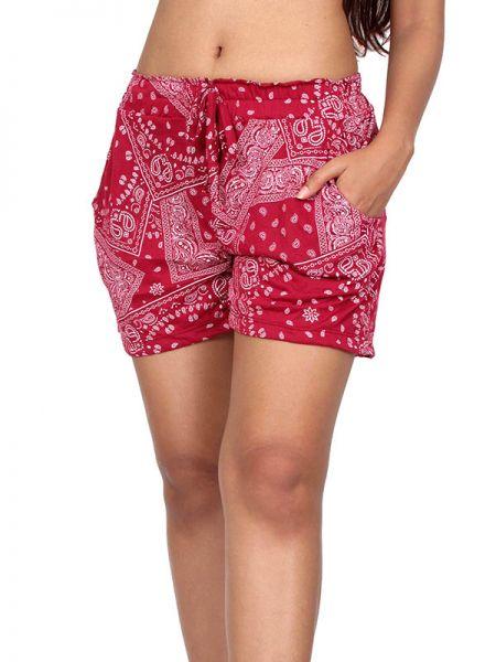Pantalones Cortos Hippie Ethnic - Pantalon corto rayón estampado [PAPO05] para comprar al por mayor o detalle  en la categoría de Ropa Hippie Alternativa Chicas.