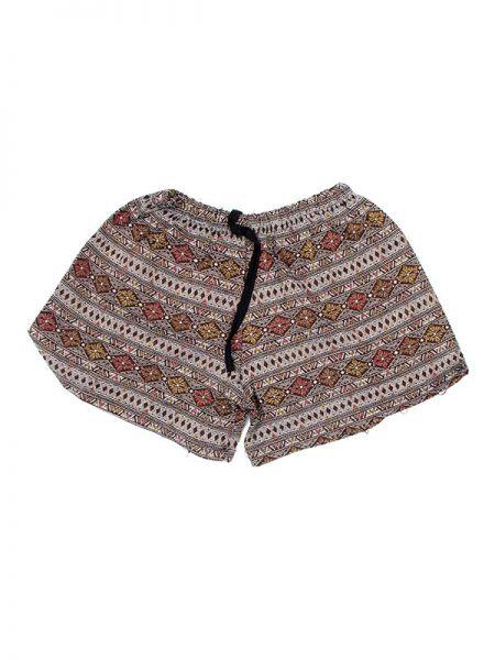 Pantalones Cortos Hippie Ethnic - Pantalon corto algodón estampado [PAPO07] para comprar al por mayor o detalle  en la categoría de Ropa Hippie Alternativa Chicas.