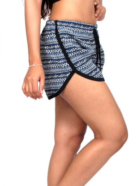 Pantalones Cortos Hippie Ethnic - Pantalon corto algodón estampado [PAPO08] para comprar al por mayor o detalle  en la categoría de Ropa Hippie Alternativa para Chicas.