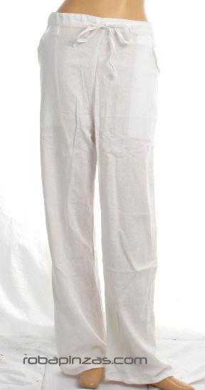 Pantalon algodon chico ibizenco blanco. Talla única. Comprar - Venta Mayorista y detalle
