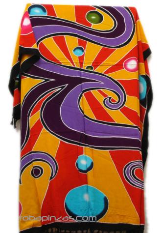 Pareo batik motivos aerografo [PARB03] para comprar al por Mayor o Detalle en la categoría de Outlet de Bolsos y Otros artículos hippies