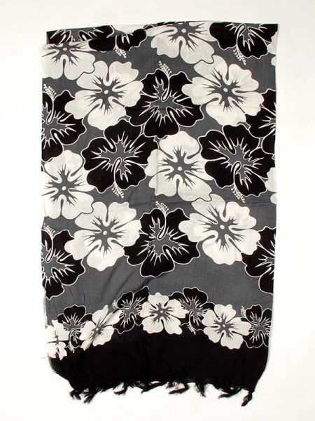 Pareo de flores Rayón [PARB05] para Comprar al mayor o detalle