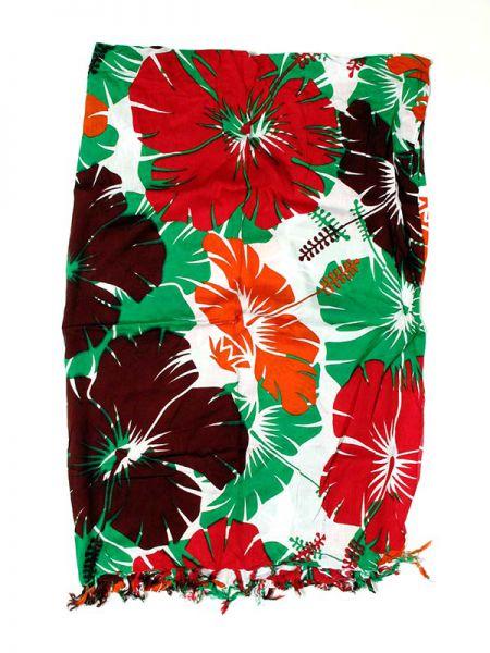 Pareo estampado flores tricolor con varios colores, composición Comprar - Venta Mayorista y detalle