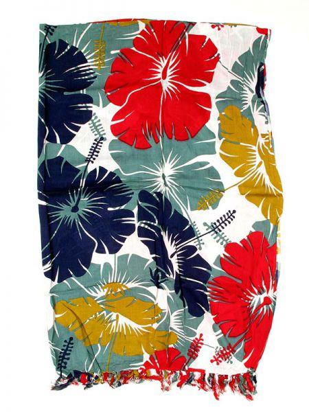 Pareo flores tricolor rayón Comprar - Venta Mayorista y detalle