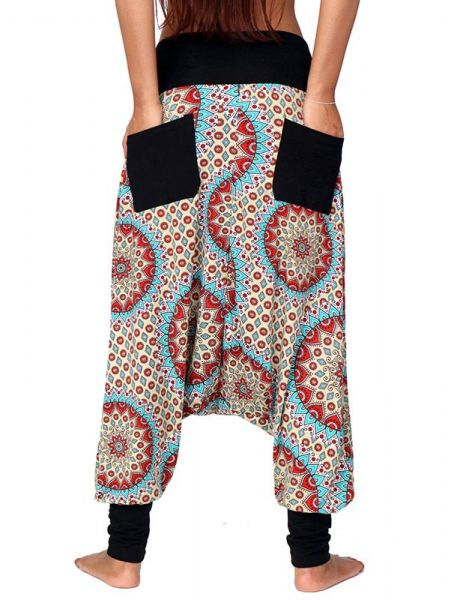 Pantalón hippie tipo árabe bombacho estampado étnico Comprar - Venta Mayorista y detalle