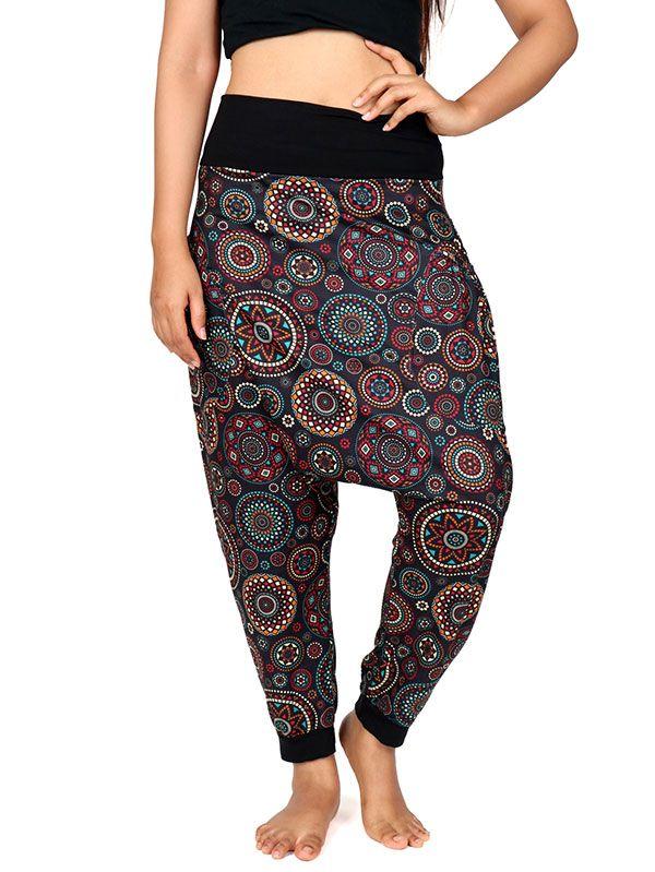Pantalones Hippies Harem - Pantalon hippie estampado mandalas [PASN17] para comprar al por mayor o detalle  en la categoría de Ropa Hippie Alternativa para Mujer.