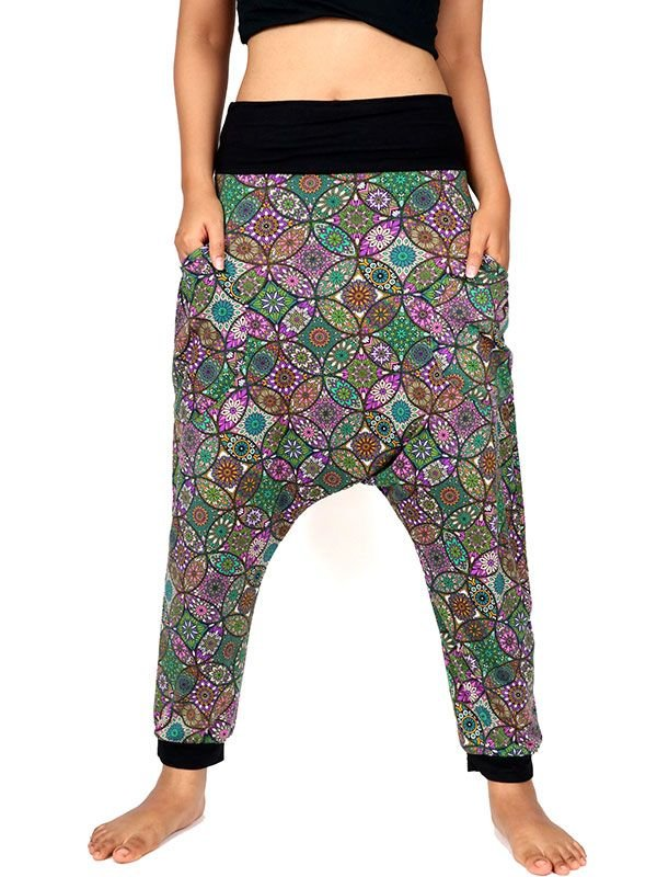 Pantalones Hippies Harem - Pantalon hippie estampado mandalas [PASN18] para comprar al por mayor o detalle  en la categoría de Ropa Hippie Alternativa para Mujer.