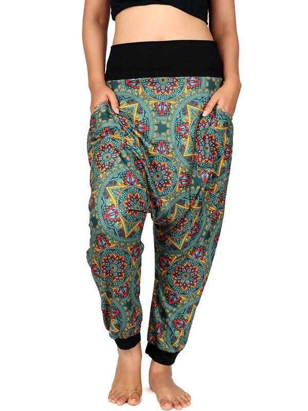 Pantalones Hippies Harem - Pantalon hippie estampado mandalas [PASN19] para comprar al por mayor o detalle  en la categoría de Ropa Hippie Alternativa para Mujer.