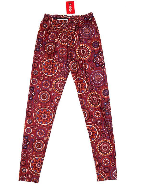 Pantalones Hippies Harem - Pantalón hippie tipo PASN22 - Modelo Rojo