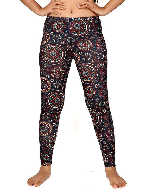 Pantalones Hippies Harem - Pantalon leggins hippie estampado mandalas [PASN22] para comprar al por mayor o detalle  en la categoría de Ropa Hippie Alternativa para Mujer.