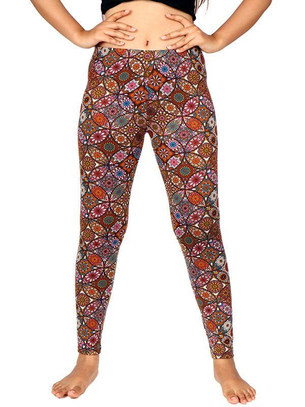Pantalones Hippies Largos - Pantalon leggins hippie estampado mandalas [PASN23] para comprar al por mayor o detalle  en la categoría de Ropa Hippie Étnica para Chicas.