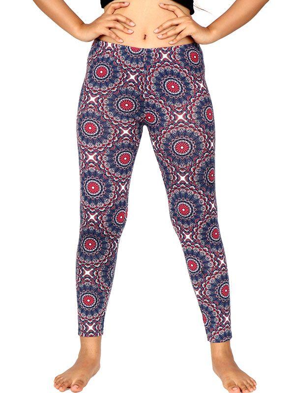 Pantalones Hippies Largos - Pantalon leggins hippie estampado mandalas [PASN24] para comprar al por mayor o detalle  en la categoría de Ropa Hippie Étnica para Chicas.
