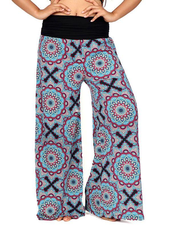 Pantalones Hippies Harem Boho - Pantalon hippie estampado mandalas [PASN26] para comprar al por mayor o detalle  en la categoría de Ropa Hippie Alternativa Chicas.