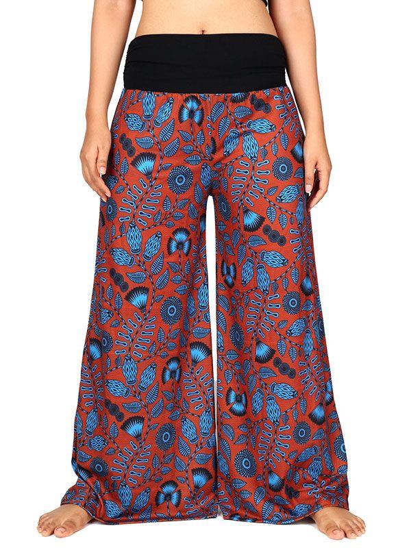 Pantalon hippie estampado flores - Detalle Comprar al mayor o detalle
