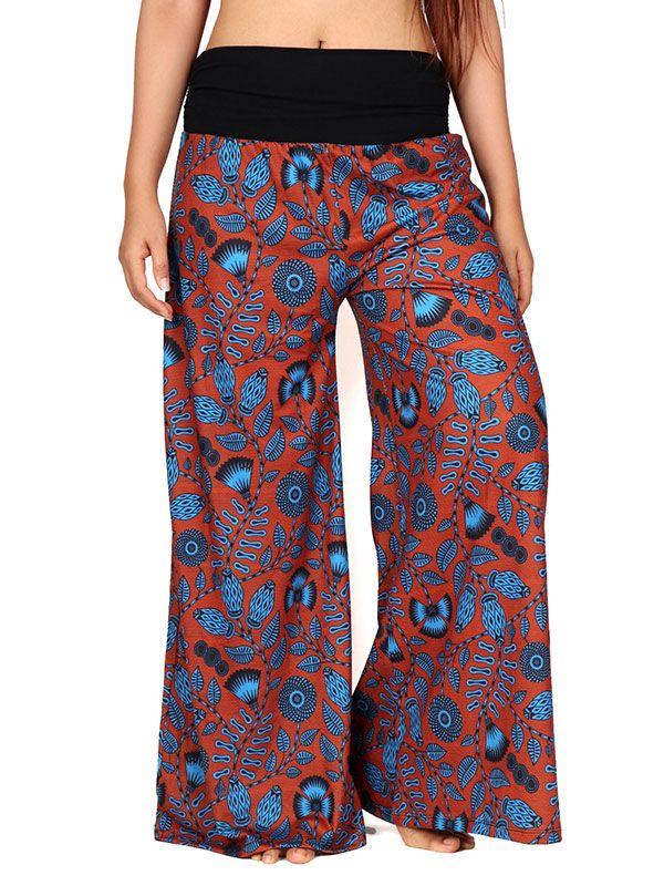 Pantalones Hippies Harem - Pantalon hippie estampado flores [PASN27] para comprar al por mayor o detalle  en la categoría de Ropa Hippie Alternativa para Mujer.