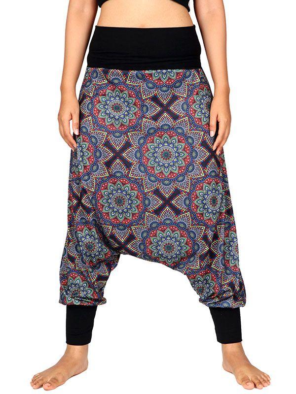 Pantalon hippie estampado mandalas grandes - Detalle Comprar al mayor o detalle