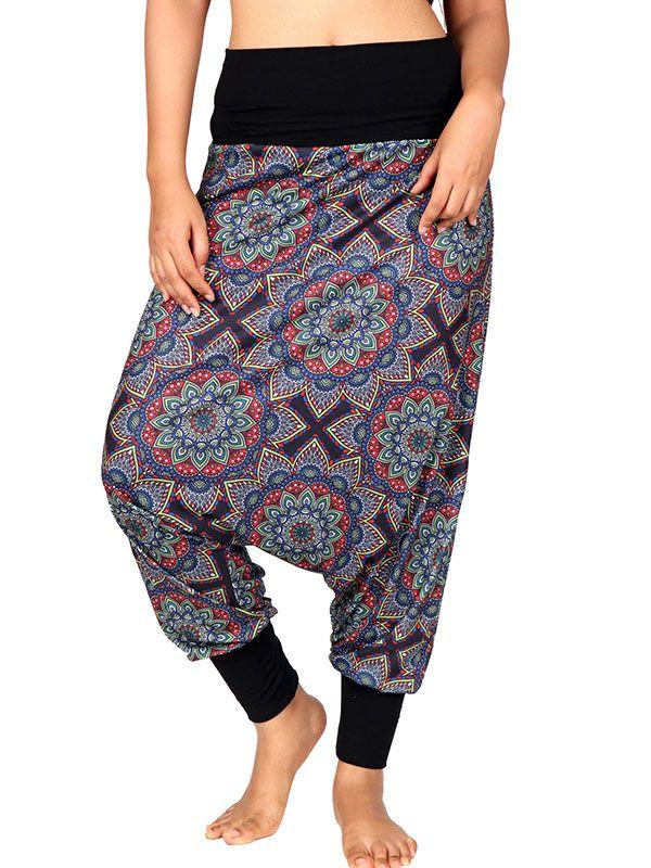 Pantalones Hippies Harem - Pantalon hippie estampado mandalas grandes [PASN28] para comprar al por mayor o detalle  en la categoría de Ropa Hippie Alternativa para Mujer.