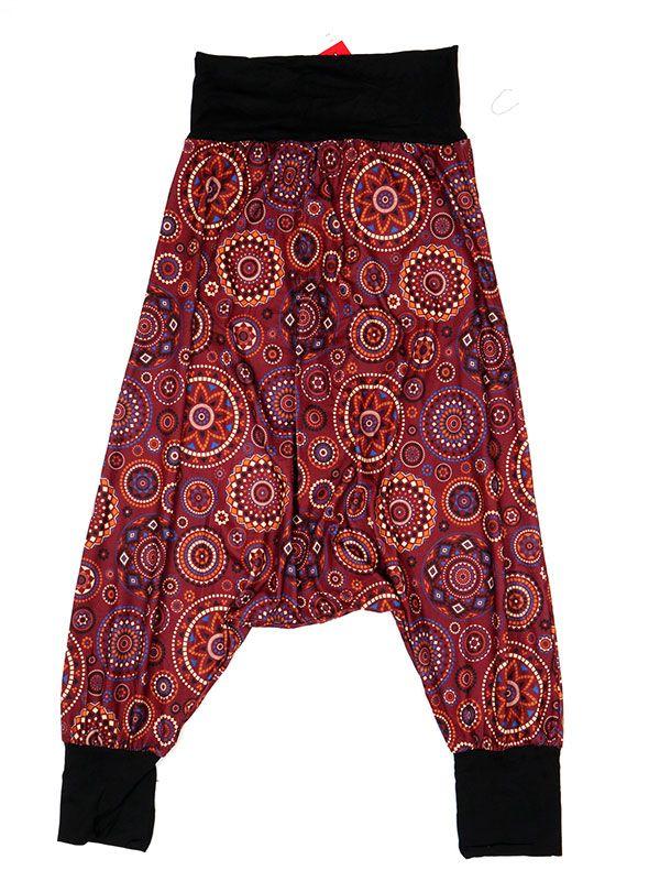Pantalones Hippies Harem - Pantalón hippie tipo PASN29 - Modelo Rojo
