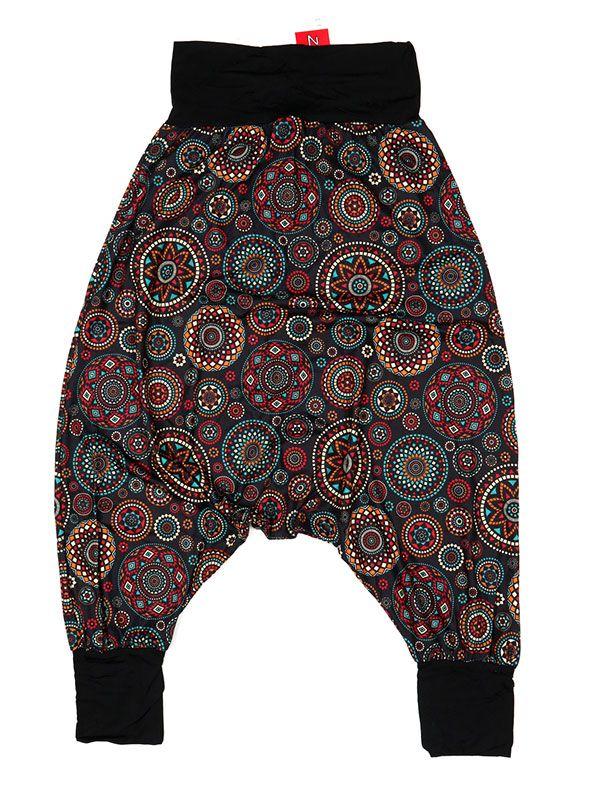 Pantalones Hippies Harem - Pantalón hippie tipo PASN29 - Modelo Negro