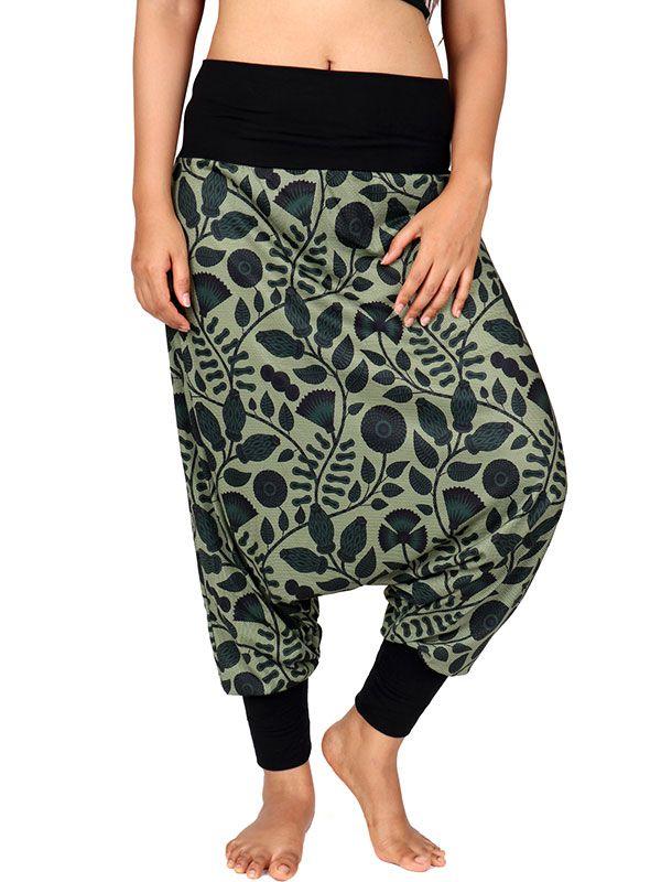 Pantalones Hippies Harem - Pantalon hippie estampado Flores [PASN30] para comprar al por mayor o detalle  en la categoría de Ropa Hippie Alternativa para Mujer.