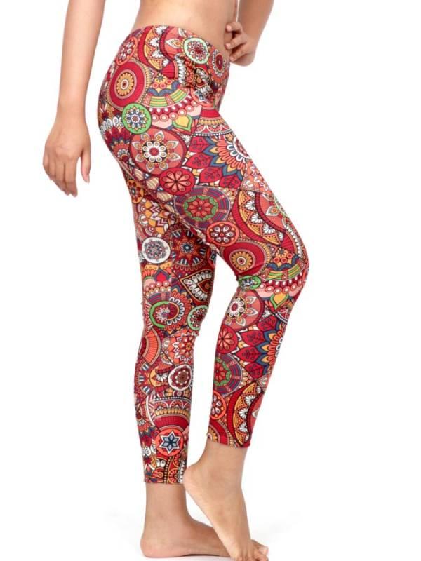Pantalon leggins Hippie estampado Mandalas [PASN39] para comprar al por Mayor o Detalle en la categoría de Pantalones Hippies Harem Yoga