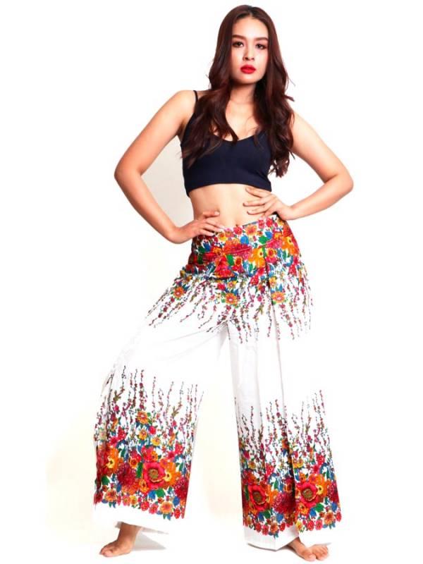 Pantalon Amplio flores - Detalle Comprar al mayor o detalle
