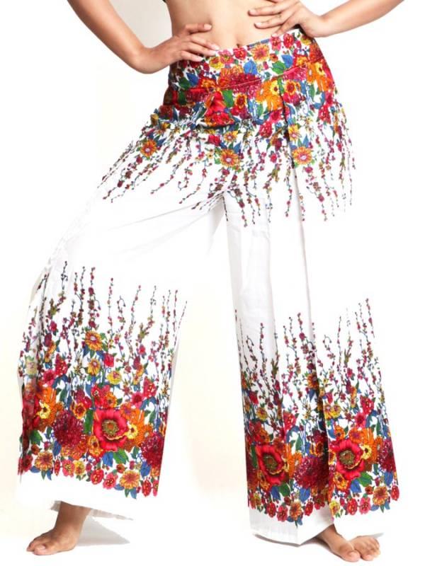 Pantalon Amplio flores [PAVA02] para comprar al por Mayor o Detalle en la categoría de Pantalones Hippies Harem Yoga