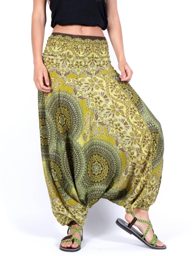 Pantalón Aladin estampado Etnico [PAVA03] para comprar al por Mayor o Detalle en la categoría de Pantalones Hippies Harem Yoga