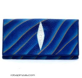 Wallets / Purses - Stripe fish skin wallet (bred in captivity) for women, size [BILE04] to buy in bulk or in detail in the category of Alternative Hippie Accessories.
