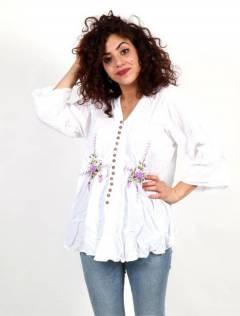 Camisetas Blusas y Tops - Blusa con borado de flores BLAO01.