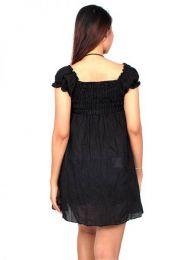 Vestido corto con bordado detalle del producto