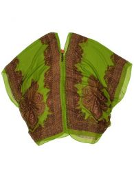 Blusa transparecia de flores Mod Verde