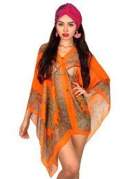 Top y Blusas Hippie Boho Ethnic - Blusa transparecia de flores BLAR05.