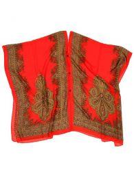 Blusa transparecia de flores Mod Rojo