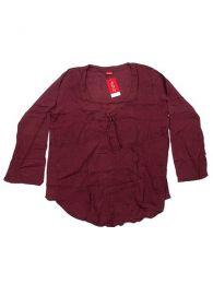 Top y Blusas Hippies Alternativas - Blusa de algodón creppe BLEV02 - Modelo Granate