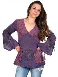 Blusa hippie de algodón detalle del producto