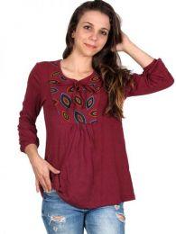 Blusa hippie de rayón detalle del producto