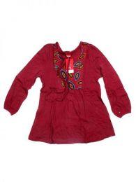 Blusa hippie de rayón Mod Rojo