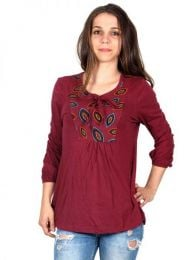 Embroidered Hippie Blouse to buy wholesale or detail in the Alternative Ethnic Hippie Outlet category | ZAS Hippie Shop [BLEV05].