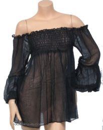 Blusa fina lisa. algodón, talla única, para comprar al por mayor o detalle  en la categoría de Ropa Hippie de Mujer | ZAS Tienda Alternativa.[BLHC03]
