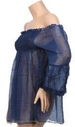 Camisetas Blusas y Tops - Blusa fina lisa. algodón, BLHC03.