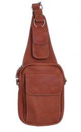 Bolso bandolera de piel, con varios compartimentos y bolsillos para BOBG03 para comprar al por mayor o detalle  en la categoría de Complementos Hippies Alternativos.