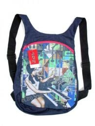 Canvas backpack with hippie prints BOCT01 to buy wholesale or detail in the category of Hippie Clothing for Women.