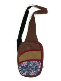 Printed multi-zip crossbody bag BOCT02 to buy in bulk or in detail in the category of Alternative Hippie Accessories.