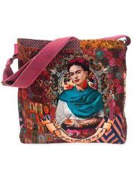 Borsa grande stampata Frida Kahlo. BOCT04 per acquistare all'ingrosso o i dettagli nella categoria di accessori Hippie alternativi.