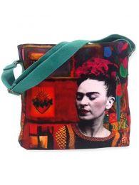 Bolsos y Monederos de Frida Kahlo  - Bolso Grande Estampados Frida Kahlo. [BOCT04] para comprar al por mayor o detalle  en la categoría de Complementos Hippies Alternativos.