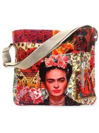 Bolsos Monederos Frida Kahlo  - Bolso Grande con estampado BOCT04 - Modelo Cat02